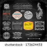vector set of calligraphic... | Shutterstock .eps vector #173624453