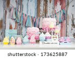 table with loads of cupcakes... | Shutterstock . vector #173625887