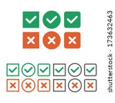 check box icon set. vector... | Shutterstock .eps vector #173632463