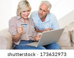 casual mature couple doing... | Shutterstock . vector #173632973