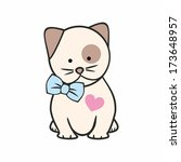kitty with heart | Shutterstock .eps vector #173648957