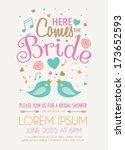 bridal shower invitation...   Shutterstock .eps vector #173652593