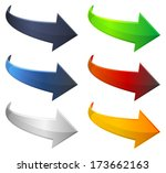 arrow icon set | Shutterstock .eps vector #173662163