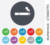 smoking sign icon. cigarette... | Shutterstock . vector #173683793