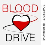 blood drive graphic design with ... | Shutterstock .eps vector #173683973