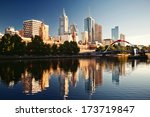 a view of the yarra river ... | Shutterstock . vector #173719847