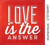 romantic typographic quote  ... | Shutterstock .eps vector #173730497