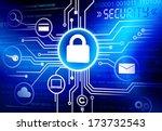 vector of internet security... | Shutterstock .eps vector #173732543