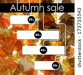 autumn discount sale  jpg | Shutterstock . vector #173735543