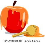 vector illustration of honey... | Shutterstock .eps vector #173751713