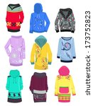 set of female hoodies isolated... | Shutterstock .eps vector #173752823