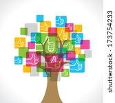 like symbol make a tree stock... | Shutterstock .eps vector #173754233