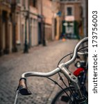 scene of a bicycle in the rain... | Shutterstock . vector #173756003