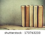 stack of books | Shutterstock . vector #173763233