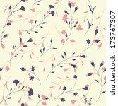 seamless floral pattern | Shutterstock .eps vector #173767307