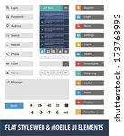 flat style web   mobile ui...