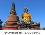 buddha statue at wat worachetha ... | Shutterstock . vector #173795447
