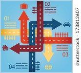 abstract crossroads... | Shutterstock .eps vector #173812607
