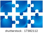 illustration of puzzle | Shutterstock .eps vector #17382112