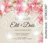 wedding invitation card | Shutterstock .eps vector #173822387