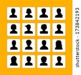 men and women avatars | Shutterstock . vector #173842193