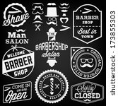 collection of vintage barber... | Shutterstock .eps vector #173855303