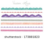 a hand painted watercolor...   Shutterstock .eps vector #173881823
