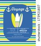 voyage set | Shutterstock .eps vector #173921837