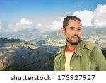 rice farmer overlooks their... | Shutterstock . vector #173927927