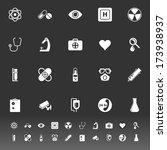 general hospital icons on gray... | Shutterstock .eps vector #173938937