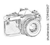 vector sketch style of retro... | Shutterstock .eps vector #173940347