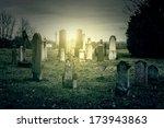 abandoned cemetery  | Shutterstock . vector #173943863