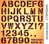an alphabet set of grunge... | Shutterstock .eps vector #173950043