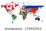 world flag map without a... | Shutterstock .eps vector #173952923