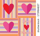 color vector valentine card... | Shutterstock .eps vector #173984837