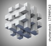 grey hovering jigsaw puzzle... | Shutterstock . vector #173989163
