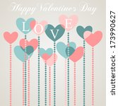 happy valentine's day greeting... | Shutterstock . vector #173990627
