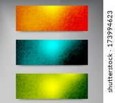 vector banners and squares.... | Shutterstock .eps vector #173994623