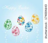 happy easter | Shutterstock .eps vector #174004643