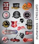 jazz icons  music event  jazz... | Shutterstock .eps vector #174011693