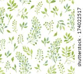 simple and cute floral seamless ...   Shutterstock .eps vector #174022517