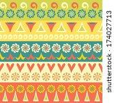 ethnic seamless vector... | Shutterstock .eps vector #174027713