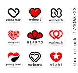 vector hearts | Shutterstock .eps vector #174068723