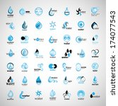 water and drop icons set  ... | Shutterstock .eps vector #174077543