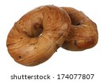 two raisin bagel | Shutterstock . vector #174077807
