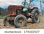 Tractor On An Arable Land Clos...