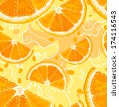 bright summer oranges pattern ... | Shutterstock .eps vector #174116543