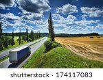 truck on the road. | Shutterstock . vector #174117083