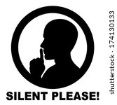 silent please  be quiet   sign...