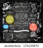 vector set of calligraphic... | Shutterstock .eps vector #174134873